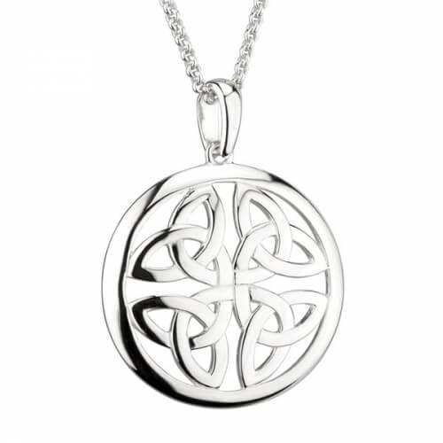 Trinity Knot Circle Pendant