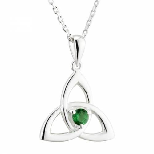 Green Crystal Trinity Pendant