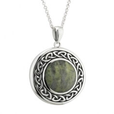 Round Celtic Marble Pendant