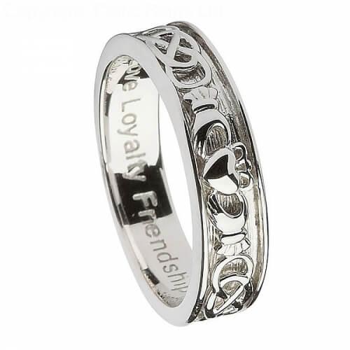 Bague de mariage en argent Claddagh pour femme
