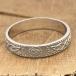 Herren schmalen irischen Ehering - Silber