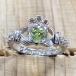 August Birthstone Claddagh Ring - Silver