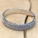 Men's Embossed Trinity Knot Wedding Ring - Silver - Display