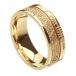 Ogham Trinity Knot Glaubensring - Weiß & Gelbgold