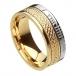 Ogham noeud celtique anneau foi - or jaune et blanc