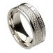 Ogham Celtic Knot Faith Ring - All White Gold