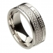 Ogham keltischer Knoten Glauben Ring - alles Weißgold