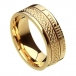Ogham Celtic Knot Faith Ring - All Yellow Gold