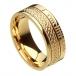 Ogham noeud celtique anneau foi - tout or jaune