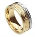 Ogham Le Chéile Faith Ring - Yellow & White Gold