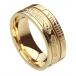 Ogham Le Chéile Faith Ring - All Yellow Gold