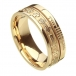 Ogham Celtic Cross Faith Ring - All Yellow Gold