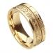 Ogham keltisches Kreuz Glauben Ring - Alles gelbe Gold
