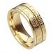 Ogham Newgrange Glaubensring - Alles gelbe Gold