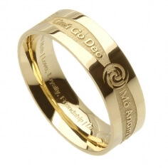 Men's Irish Promise Ring - Yellow Gold