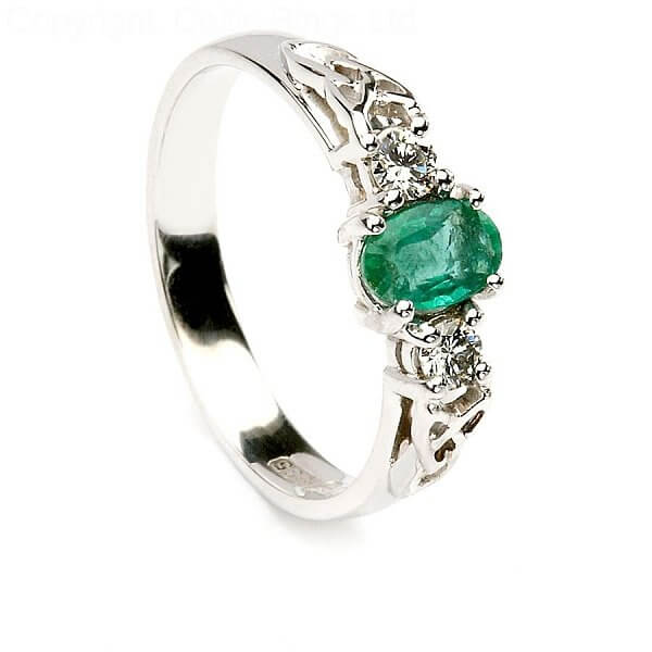 Emerald Engagement Ring Celtic Rings Ltd