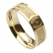 Men's Barbed Wire Wedding Ring - Yellow Gold
