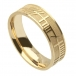 Men's Ogham Soulmate Band - Yellow Gold