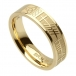 Women's Ogham Soulmate Band - Yellow Gold