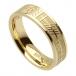 Damen Ogham Seelengefährtin Band - Gelbes Gold
