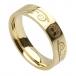 Damen Baum des Lebens Ehering - Gelbes Gold