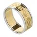 Herren Keltischer Schwan Ring mit trim - gelb mit weißem Gold trim