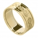 Men's Celtic Swan Ring with Trim - All Yellow Gold