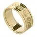 Herren Keltischer Schwan Ring mit trim - Alles Gelbe Gold