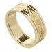 Damen keltischer Schwan Ring mit trim - alles Gelbgold