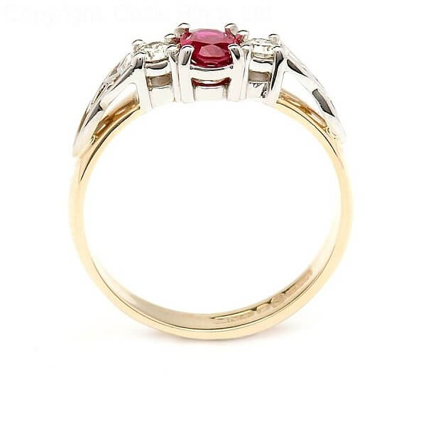 Ruby Engagement Ring With Trinity Knots