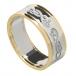 Damen keltischer Schwan Ring mit trim - Silber oder Weißgold mit Gelbgold trimmen