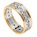 Women's Eternity Diamond Ring with Trim - White with Yellow Trim