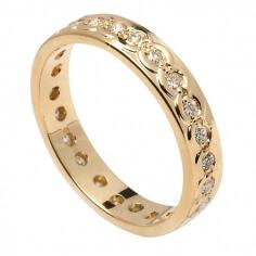 Women's Eternity Diamond Wedding Ring - Yellow Gold