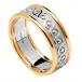 Damen Ewigkeit Knoten Ring mit Trim - weiß mit gelben trim