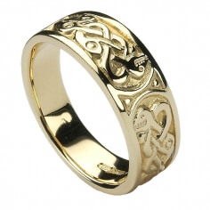 Womens Celtic Knot Ring - Gold