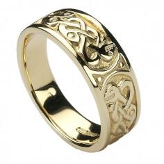 Femmes Bague Noeud celtique - or