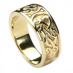 Herren-keltische Knoten-Ring - Gold