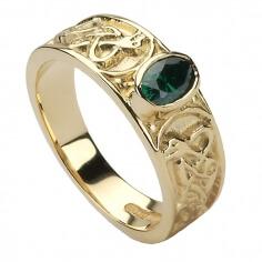Damen Keltischer Knoten Ring mit CZ - Gold