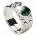 Mens Celtic Knot Ring with CZ - Silver