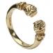 Antiker keltischer Ring - Gelbgold