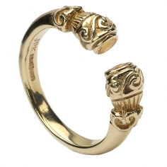 Antique Celtic Ring - Yellow Gold