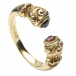 Antique Celtic Ring with Gemstone - Yellow Gold