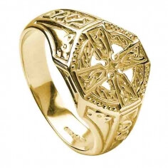 Celtic Cross Ring - Yellow Gold