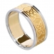 Men's Celtic Lover's Knot Band with Trim - Yellow with White Trim