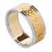 Herren keltischem Liebesknoten Ring mit trim - gelb mit weißer trim