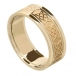 Women's Celtic Lover's Knot Band with Trim - All Yellow Gold
