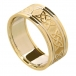 Men's Celtic Lover's Knot Band with Trim - All Yellow Gold