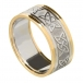 Men's Celtic Lover's Knot Band with Trim - White with Yellow Trim