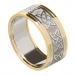 Herren keltischem Liebesknoten Ring mit trim - Weiß mit Gelb Trim
