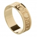 Men's Gaelic Wedding Ring - Yellow Gold